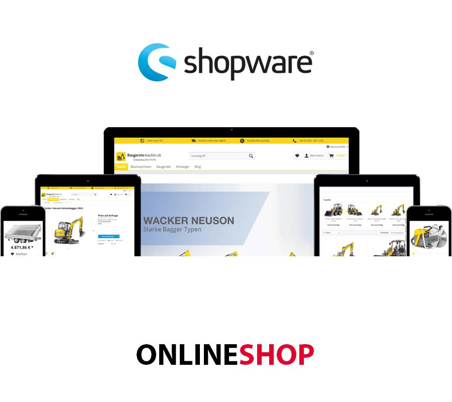 Onlineshop erstellen mit Shopware